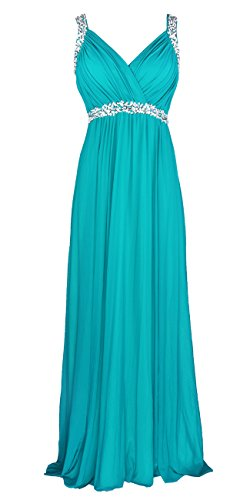 conail Coco Women's Elegant Royal Formal Dresses Wear Long Wedding Party Gowns (XXLarge, 30Turquoise)