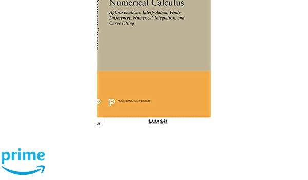 Numerical Calculus (Princeton Legacy Library