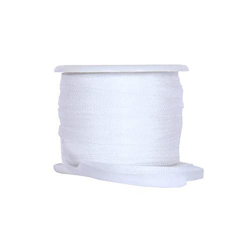 Threadart 100% Pure Silk Ribbon - 2mm White - No. 003-3 Sizes - 50 Colors ()