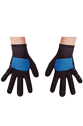 Child Blue Gloves (Blue Power Rangers Ninja Steel Child Gloves, One Size)