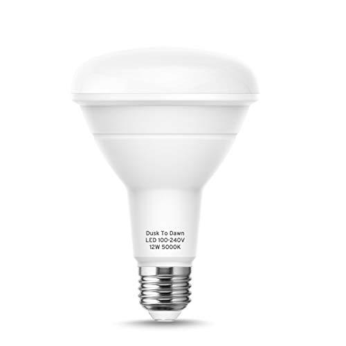 Dusk to Dawn BR30 Light Sensor Bulbs, E26 Base LED Bulbs, 85W Equivalent, Daylight 5000K, 950LM, Auto On/Off, Indoor/Outdoor Night Light Bulbs, Yard Porch Patio Garage Garden Lights