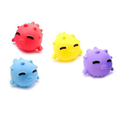 Garneck Durable Cartoon Lightweight Novel Baby Bathing Toy Fishing Toy Children Toddler Kids with 4pcs Small Thorn Dolphin : Baby
