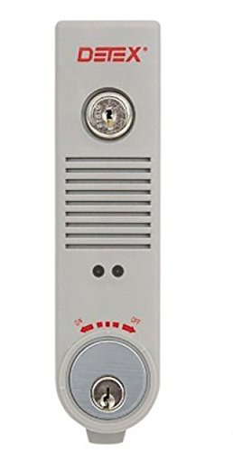 Detex EAX-500 Surface Mounted Exit Alarm Piezo Horn Detex Battery Powered Door or Wall Mount Exit Alarm, 2.10'' W x 2.375'' D x 7.70'' L by Detex