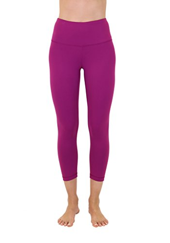 28e40aa2be5a6 Galleon - 90 Degree By Reflex - High Waist Tummy Control Shapewear - Power  Flex Capri - Festival Fuchsia - XS