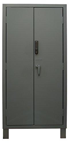 Durham Mfg - Cabinets, Restricted Access Cabinets - (1) Solid Door (1) See Through Door, Rac-Ca, Wxdxh: 36 X 24 X 78, Shelf Capacity: 1,900#, Door Desc: (2) Solid , Unit Weight: 427#, 3702Cx-Blp4S-95