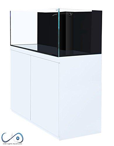 CAD Lights 100 Gallon Artisan II Aquarium w/ Protein Skimmer - White Stand (Protein Professional Skimmers)