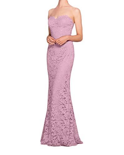 Spitze Abendkleider Rosa Rosa La Marie Lang Etuikleider Ballkleider Knielang Dunkel Brautmutterkleider Braut xRSxI7X
