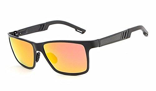 para polarizada Hombre MXNET Silver Sol Conduce Ciclismo Black y de Que aleación Gafas Marco Oculos orange Color Silver Calidad de con Pesca de Resistencia Alta Shades qt55rE