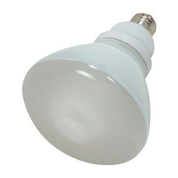 (Pack of 12) Satco S7242, 23-Watt Medium Base R40 Reflector, 4100K, 120V, Equivalent to 85-Watt Incandescent Lamp, Compact Fluorescent Bulb