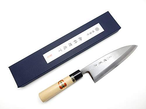 SAKAI KIKUMORI Yasuki White Steel #2, Kasumi Professional Deba Knife (195mm/7.7'') by SAKAI KIKUMORI (Image #4)