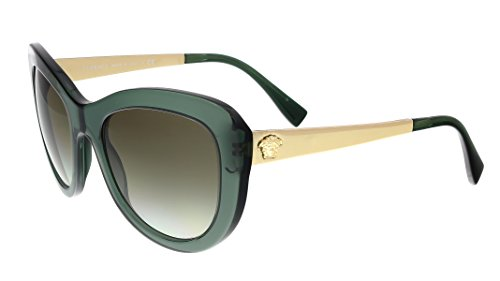 Versace Women's VE4325 Sunglasses Transparent Green / Green Gradient - Versace Green