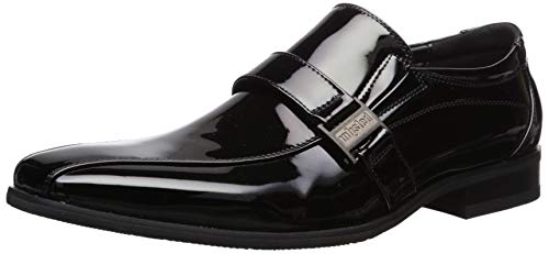 Unlisted by Kenneth Cole Men's Beautiful Ballad Loafer, Black Patent, 10 M US