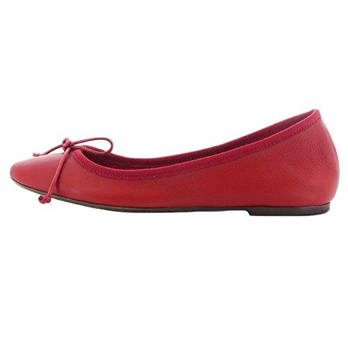 Woman 1930cherry Leather Flats Penelope Ballet qxFzYwqI