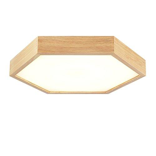 BLYC- Massivholz, hängenden Kronleuchter nordischen moderne minimalistische mit Doppelfunktion japanischen Stil Schlafzimmer Esszimmer Deckenleuchte Lampe Leuchte Decke 400 * 60mm
