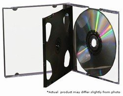 Mediaxpo Brand 10 STANDARD Black Triple 3 Disc CD Jewel Case