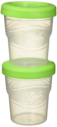 Ball Plastic Pint Freezer Jars with Snap-On Lids