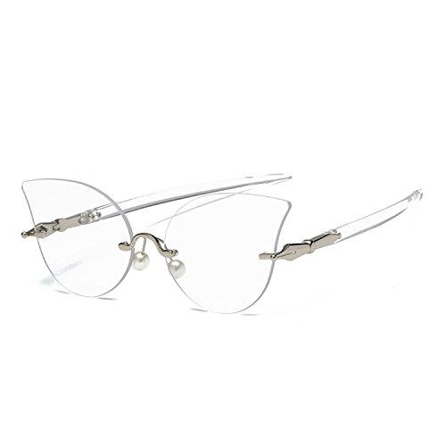 Sunglasses Women Eyeglasses Shades Glasses Decoration Glasses Clear Lens (Sniper Mirror Goggles)