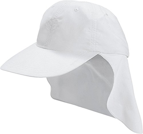 Coolibar UPF 50+ Kids' All Sport Hat - Sun Protective (Small - White)
