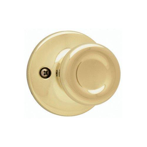 Kwikset Tylo Half-Dummy Knob in Polished Brass