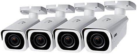 Lorex 8MP 4K IP Motorized Varifocal Zoom Bullet Security Camera LNB8973BW, 250ft IR Night Vision, 4X Zoom 4 Cameras, White