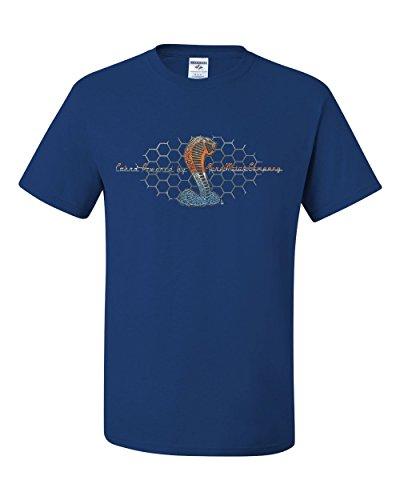 - Cobra Powered by Ford T-Shirt Mustang Cobra Tee Shirt Royal Blue M