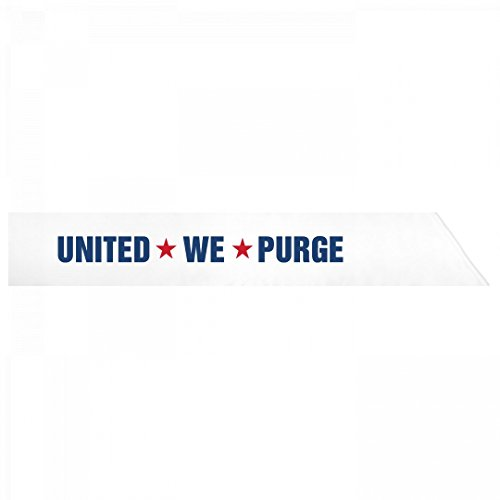 The Purge Halloween Costume: Adult Satin Party Sash - Couples Costumes Purge