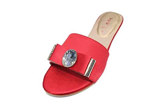 Red avec Femme pour Noir rouge Mode W Sandales Mariage Or violet Soirée Strass ESSIA Argent amp; qwaZx5F
