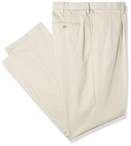 8b4efb19924 Dockers Men's Big and Tall Classic Fit Signature Khaki Lux Cotton Stretch  Pants - Pleated D3, Cloud, 50 30