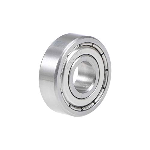 uxcell S607ZZ Stainless Steel Ball Bearing 7x19x6mm Double Shielded 607Z Bearings 1-Pack