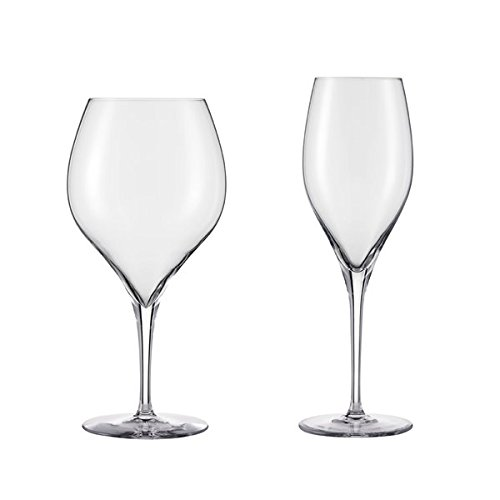 Schott Zwiesel Tritan Crystal Glass Grace Stemware Collection Burgundy/Red Wine Glass, 23.6-Ounce and Champagne Flute/Sparking Wine 11-Ounce, Celebration Stemware Mixed Set of 8 (Wine Schott Glasses Zwiesel)