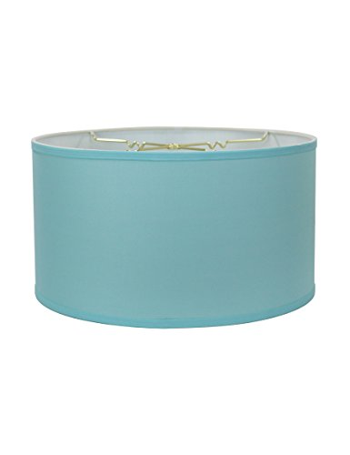 18x18x10 Island Paridise Blue Shallow Drum Lampshade with Brass Spider Fitter by Home Concept - Perfect for Table and Floor Lamps - Extra Large, Island Paridise Blue