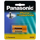Panasonic Original Ni-MH Rechargeable Battery for the Panasonic KX-TGA651 - KX-TG6511B - KX-TG6512B & KX-TG6513B DECT 6.0 PLUS Expandable Cordless Phone System Black