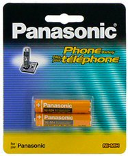 Panasonic Original Ni-MH Rechargeable Batteries for the KX-TGEA20S - KX-TGE272S - KX-TGE273S - KX-TGE274S & KX-TGE275S Link2Cell Bluetooth Cordless Phones - 2 Pack Battery Refill