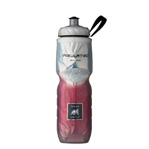 Polar Bottle Insulated Water Bottle (Red Fade) (24 oz) - 100% BPA-Free Water Bottle - Perfect Cycling or Sports Water Bottle - Dishwasher & Freezer Safe