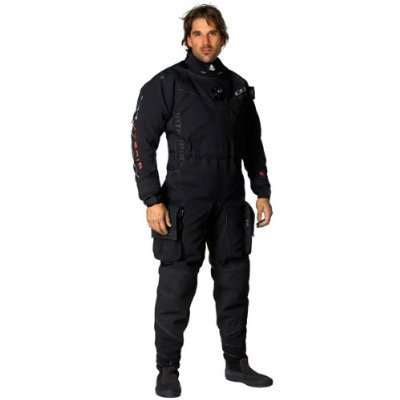 New Men's Tusa WaterProof D1 Hybrid Back Zip Trilam Drysuit with Integrated Silicone Seals & Quick Cuff System (Size 2X-Large Tall)