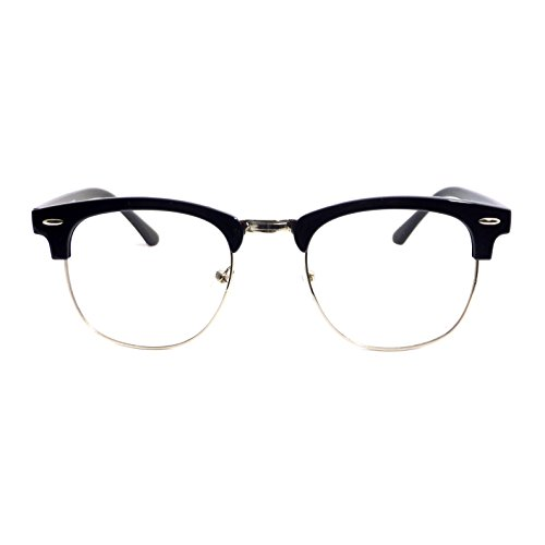 VINTAGE Clubmaster Horn Half Rim Trendy Frame Clear Lens Eye Glasses - Clubmasters Cool Are