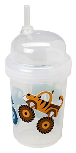 (nuspin kids 8 oz Zoomi Straw Sippy Cup, Monster Trucks Style)
