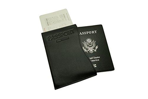 Pacer Go Passport Holder, Travel Cover for Men, RFID Blocking Plain Genuine Leather