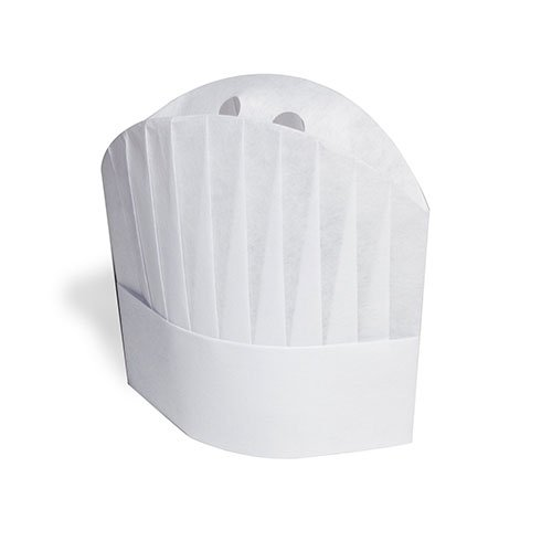 Royal 9'' Viscose Pleated Chef Hats Le Toque, Package of 50 by Royal