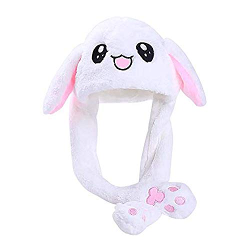 Bunny Hat, Rabbit Ear hat, Plush Hat,TIK Tok Ear Movable Jumping Rabbit Ear Hat Funny Cute Stuffed Animals Toys