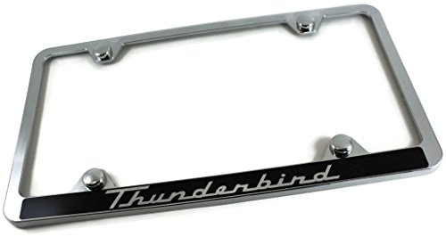 Ford Thunderbird Slim ABS Plastic License Plate Tag Frame Mirror Chrome (Thunderbird License Plate Frame)