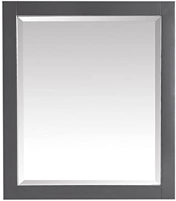 Avanity 28 in. Mirror in Twilight Gray Finish with Brushed Silver Trim