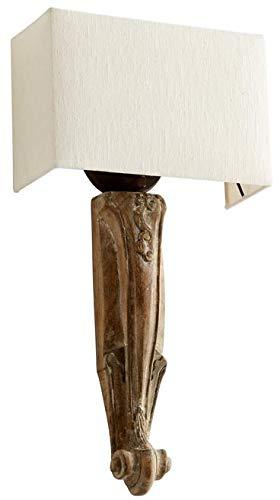 - Cyan Design Wall Sconce Serena 1-Light Gold Leaf Limed Gracewood Birchwo