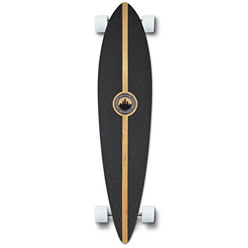 Yocaher Special Graphic Complete Longboard PINTAIL skateboard w/ 70mm wheels (Tiedye Original)