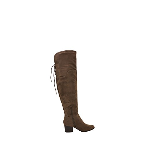Quest Back Taupe City Womens Boots Tall Dark Tie S Classified p5pAnTHI
