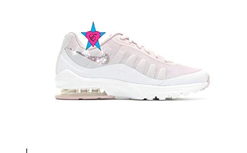 Amazon.com  Custom Crystal Bedazzled Light Pink White Women Nike Air Max  Invigor Print …  Handmade dc96290342