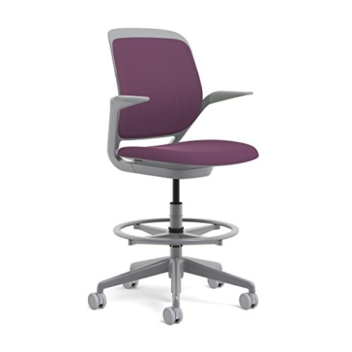 Steelcase Platinum Base with Hard Floor Casters Cobi Stool, Concord Review