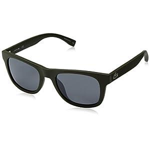 Lacoste L790s Rectangular Sunglasses, Matte Khaki, 52 mm