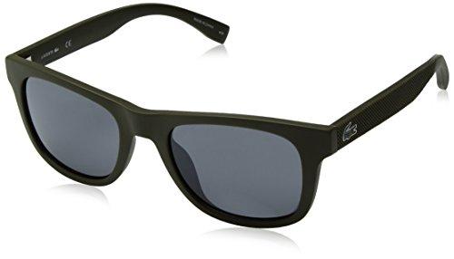 Lacoste L790s Rectangular Sunglasses, Matte Khaki, 52 - Lacoste Mens Glasses