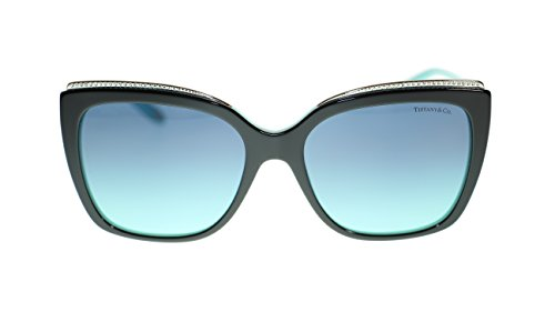 TIFFANY & CO Square Women's Sunglasses TF4135B 80559S Black Blue/Azure Blue 56mm Authentic